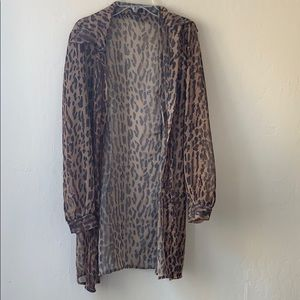 Sheer leopard cover up